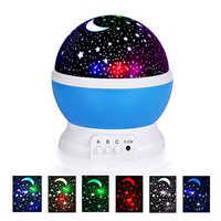 lampara infantil Lámpara de proyector de luz de noche 3D estrella Letras Led niños lámparas de bebé de noche estrellada para niños lamparas Luz de luna luz de noche infantil