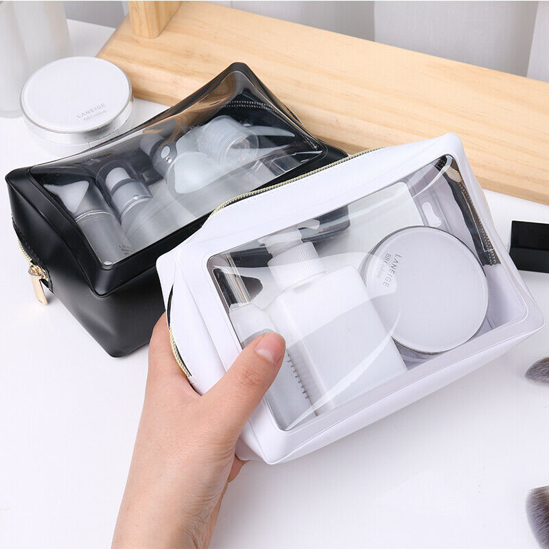 Cosmetic Bag Toiletry-Bag Wash-Pouch Zipper Transparent Large-Capacity Waterproof Women