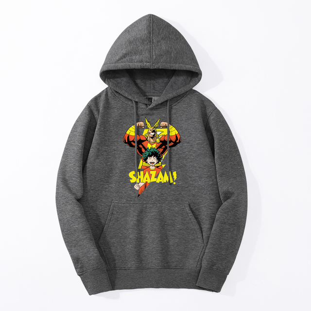 THE ALL MIGHT-Y SHAZAM MY HERO ACADEMIA HOODIE
