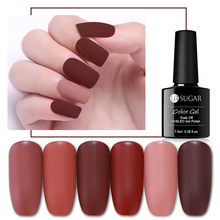 UR Gula 7.5 Ml Matte Warna Uv Gel Cat Kuku Musim Gugur Baru Coklat Kopi Warna Tahan Lama Gel Rendam Off UV LED Varnish Bahasa Polandia(China)