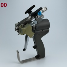 P2 gun, A5 spray gun ABRA500 with 00 Mix Chamber for low flow output spray polyurethane foam applications