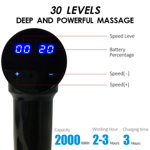 Image 4 - Electric Muscle Massager Therapy Fascia Massage Gun 5 Massage Heads Deep vibrating Muscle Relaxation Fitness Equipment with Bag