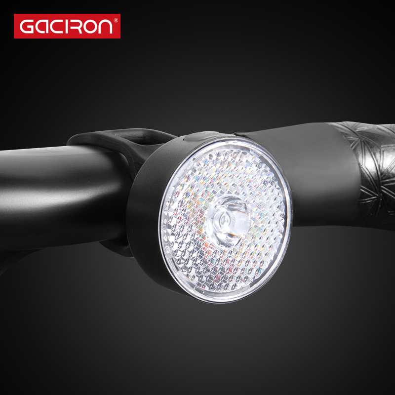 GACIRON Bike Warning Front Light 20 Lumens USB Charge Smart LED Lamp Spot light 90° Waterproof Bicycle light Cycling Accessories
