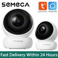 Semeca-cámara Ip inteligente Tuya de 1080P, seguimiento automático, seguridad del hogar, interior, vigilancia, inalámbrica, Wifi, Monitor de bebé