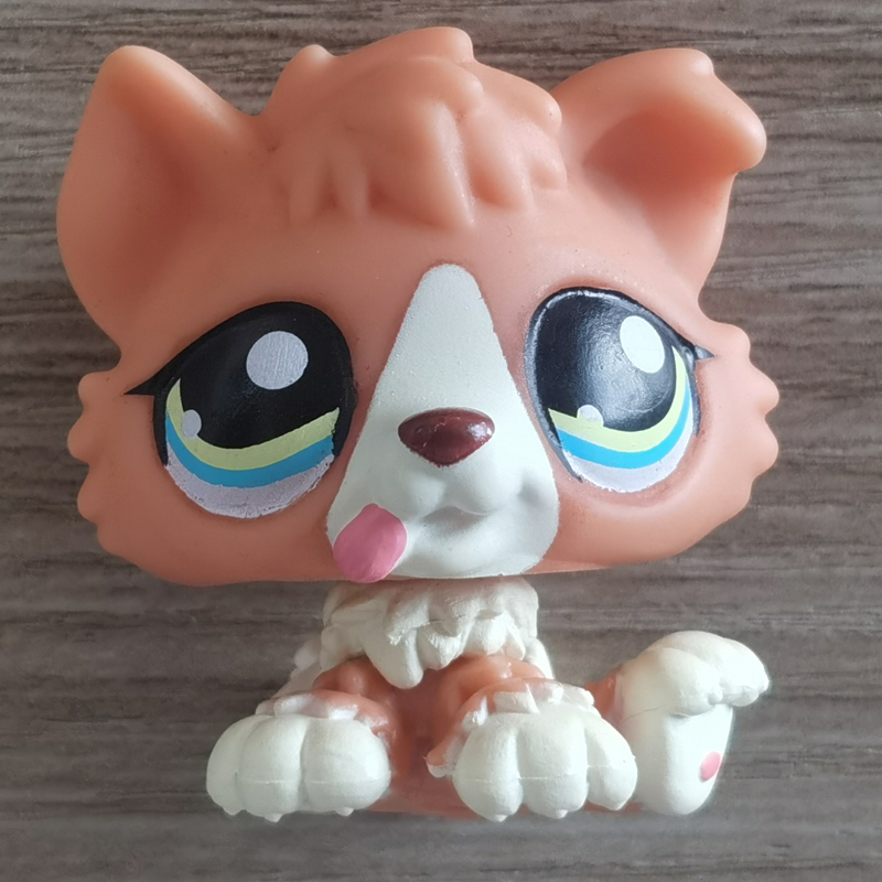 <font><b>LPS</b></font> <font><b>CAT</b></font> 4CM MINI Custom-made <font><b>Baby</b></font> Puppy for Pet Shop Toy Collie #1542 Red Dog 1 Inch LPSCB image