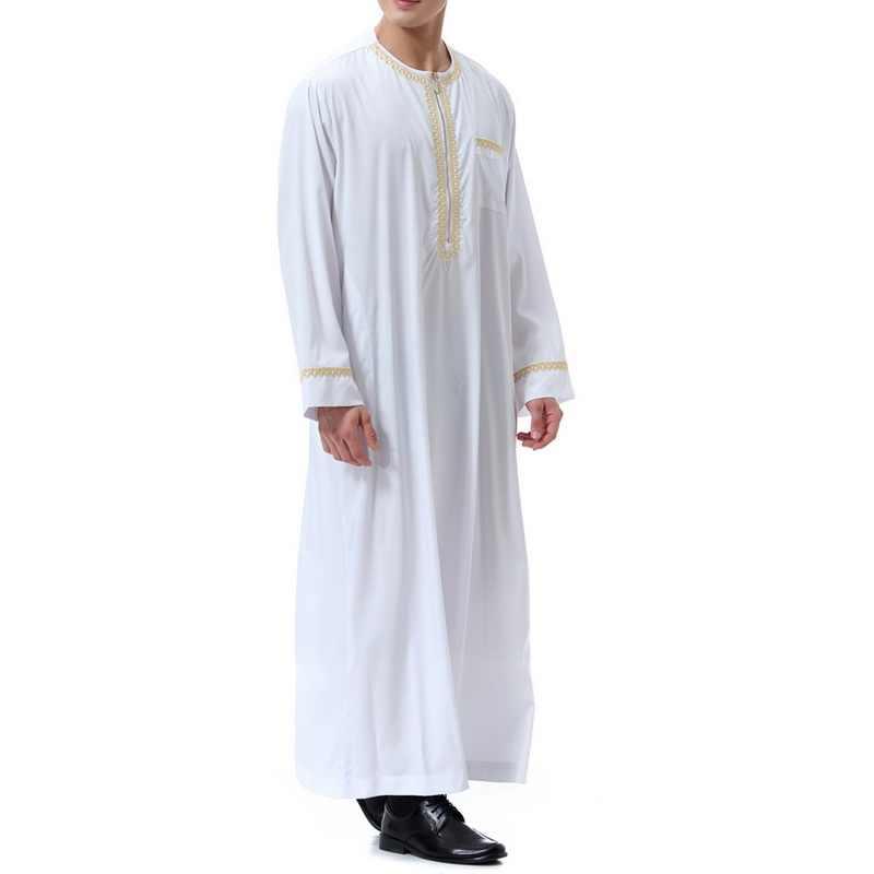 Litthing 新教徒 Jubba トーブイスラム Vetement ファムメンズエスニックローブルース長袖ヴィンテージドレスカフタン Elbise 服