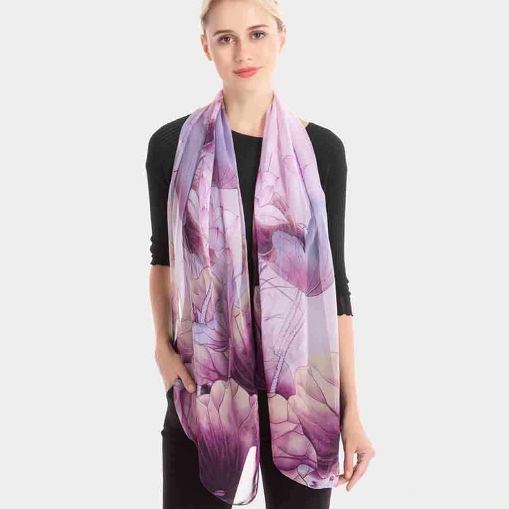 Boêmio floral inverno quente cachecóis feminino novo padrão de flor quente lenço de cabelo quadrado longo e leve seda envoltórios foulard soie