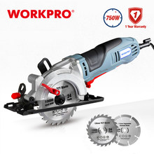 WORKPRO Electric Mini Circular Saw Power Tools 750W Multifunctional Electric Saw With TCT Blade and Diamond Blade Sawing Machine