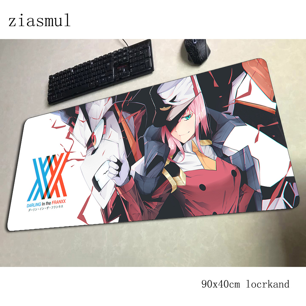 Darling In The Franxx Mouse Pad Gamer Locked Edge 90x40cm Notbook Mouse Mat Gaming Mousepad High-end Pad Mouse PC Padmouse Mats