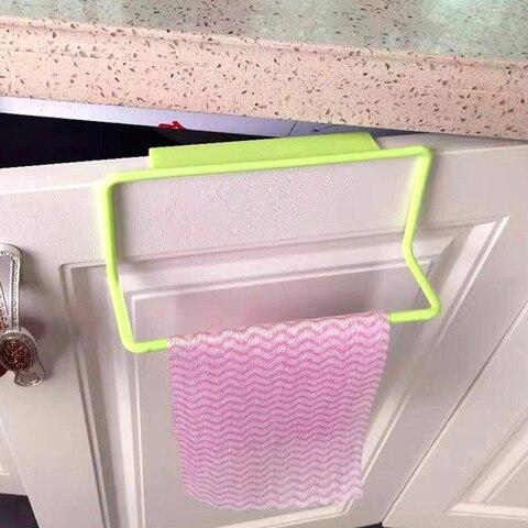 Kitchen bathroom towel rack rag rack bathroom cabinet cupboard door hanging rack kitchen supplies accessories Karachi