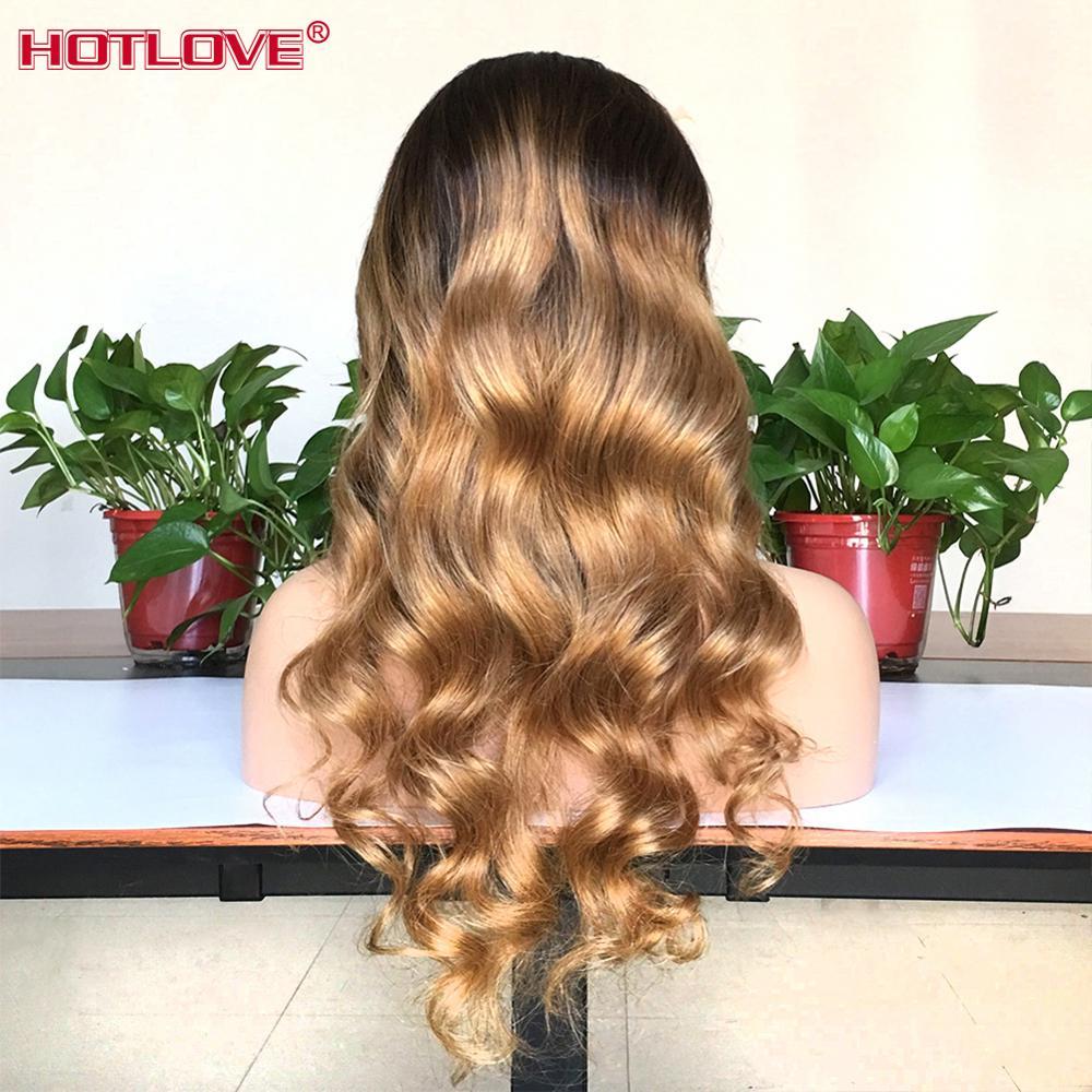 Объемная волна Синтетические волосы на кружеве парики из натуральных волос на кружевной эффектом деграде (переход от темного к 4/27 светлые м... - 5