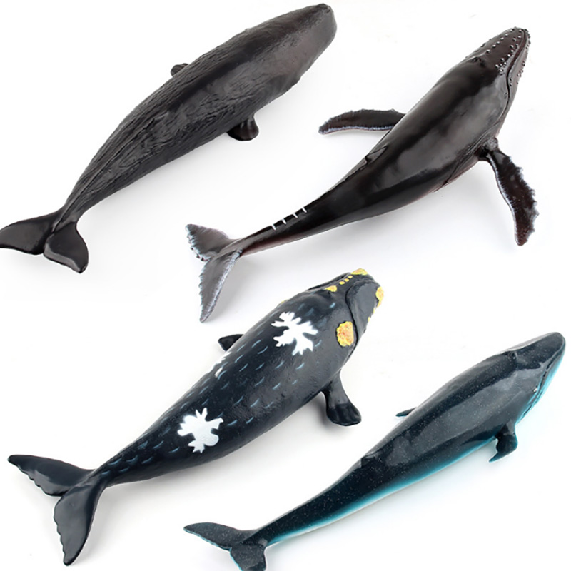 Soft Rubber Whale Animal Model Action Figure Sea Animal Action Figures Collection Children Cognitive Toy