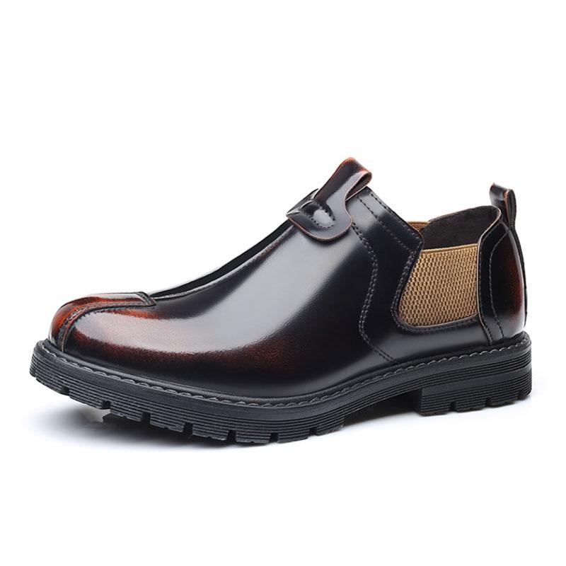 ZYYZYM Men Leather Shoes Casual 2021 Spring British Tooling New Men