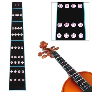 4 4 czarny profesjonalny skrzypce podstrunnica naklejka podstrunnica uwaga etykieta Fingering wykres praktyka dla początkujących części skrzypce tanie i dobre opinie CN (pochodzenie) Do skrzypiec MM_SMI_101 Paper Black