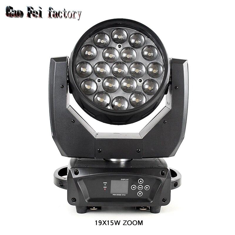 Светодиодный просветильник ектор высокой мощности, 19x15 Вт RGBW DMX, сцсветильник прожектор для бара