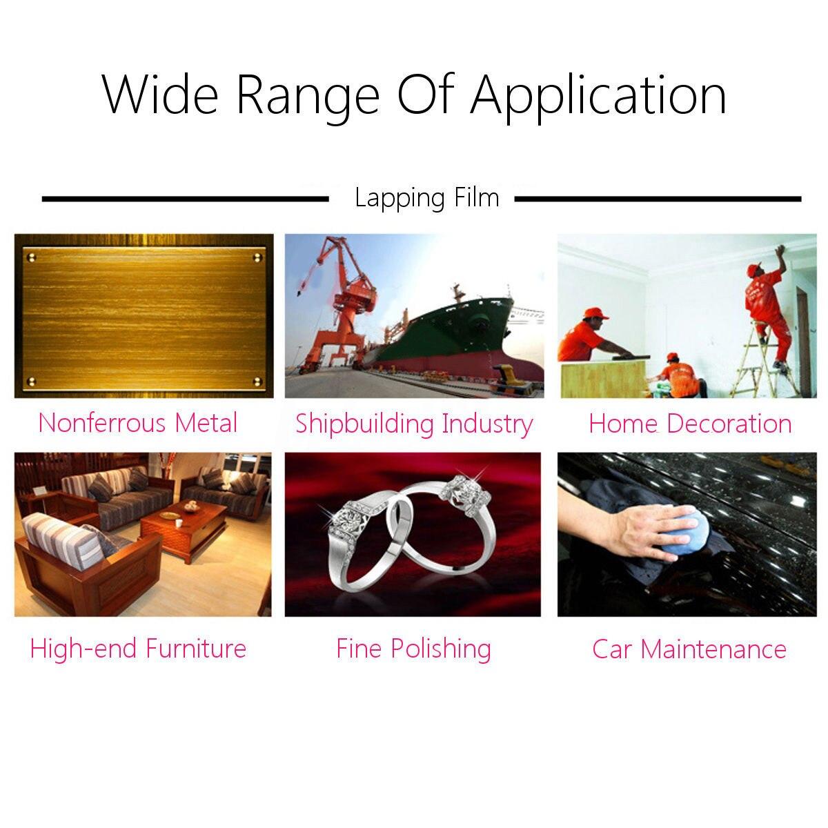 Fine Polishing 7PCS Plastic Lapping Film Sheets 1500-12000 Grits Self Abrasive