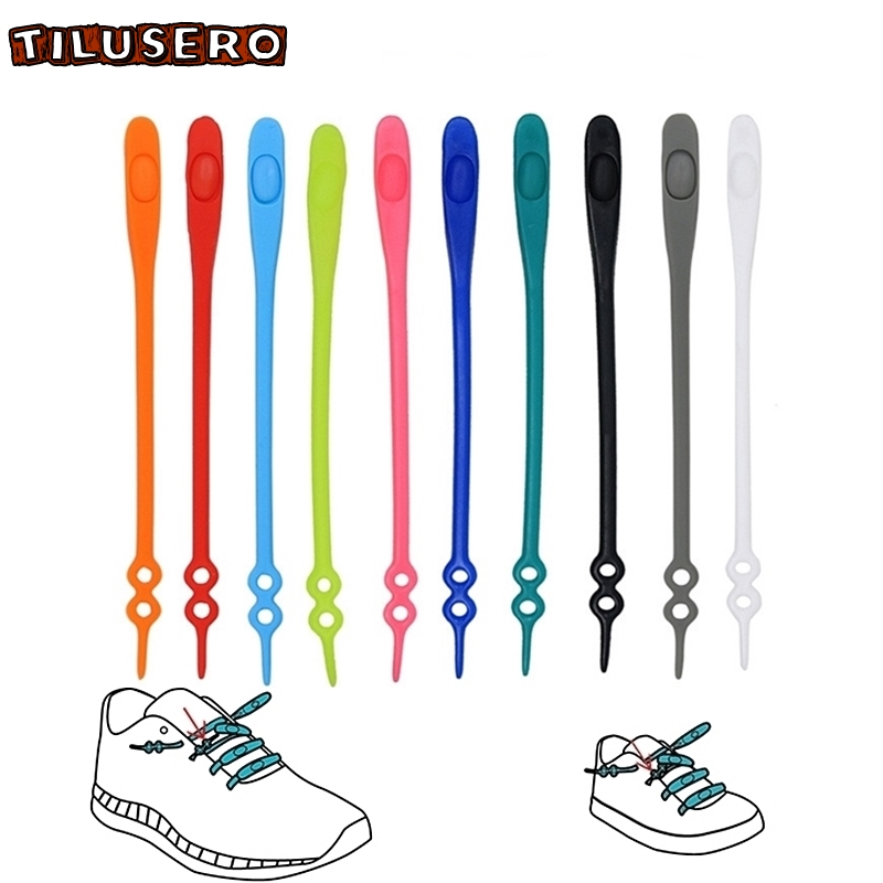 14pcs/set Waterproof Silicone Shoelace Safty Shoes Accessories Round Elastic Shoelaces No Tie Lazy Shoe Laces Z066