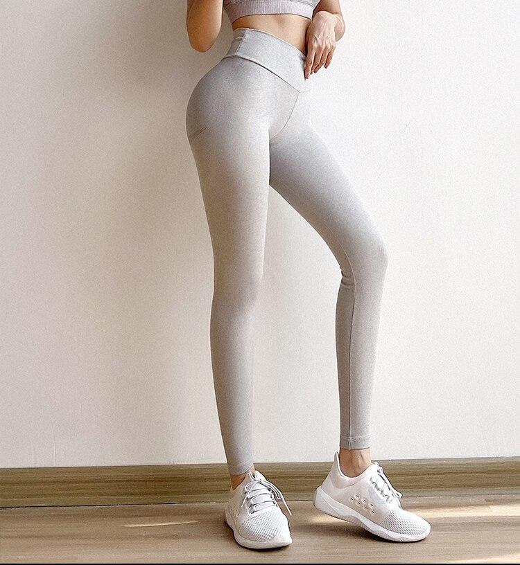 ginásio legging cintura alta yoga calças de