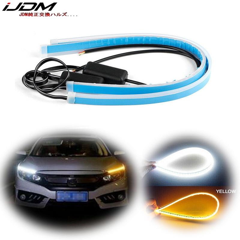 20cm 5W Led Tube Car Driving Lamp White Daytime Running Light Amber Turn Signal