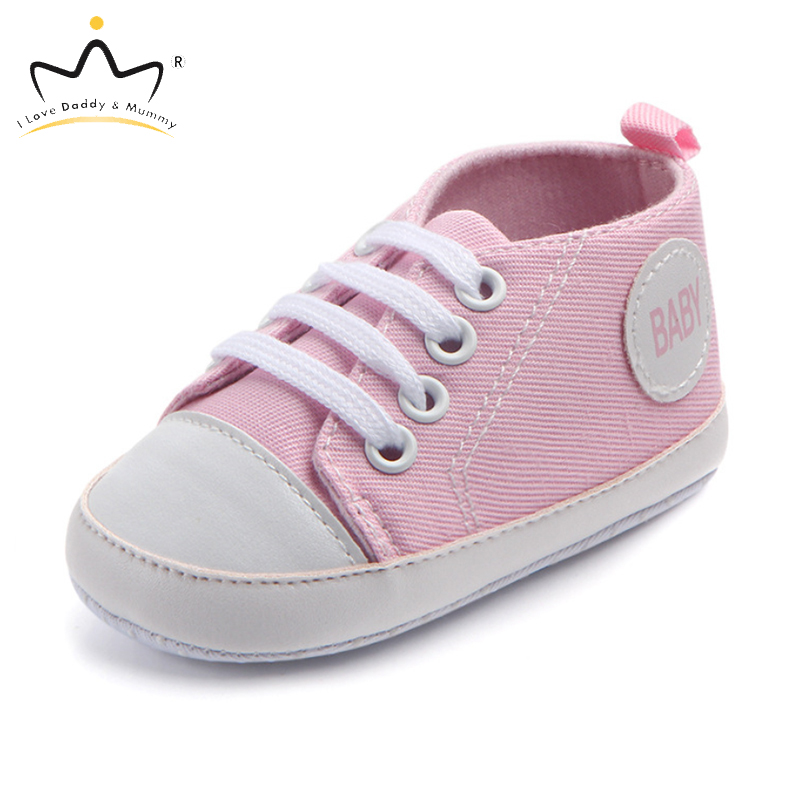 Spring Summer Baby Shoes Solid Color Soft Cotton Anti Slip Soled Toddler Shoes For Baby Boy Girl Pink White Boys Girls Shoes