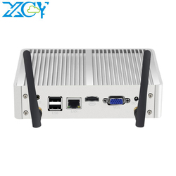 XCY 8*USB Fanless Mini PC Windows 10 7 Core i7 4500U i3 4005U i5 5300U 4200Y DDR3L WiFi HDMI minipc Computer HD Graphics Nettop