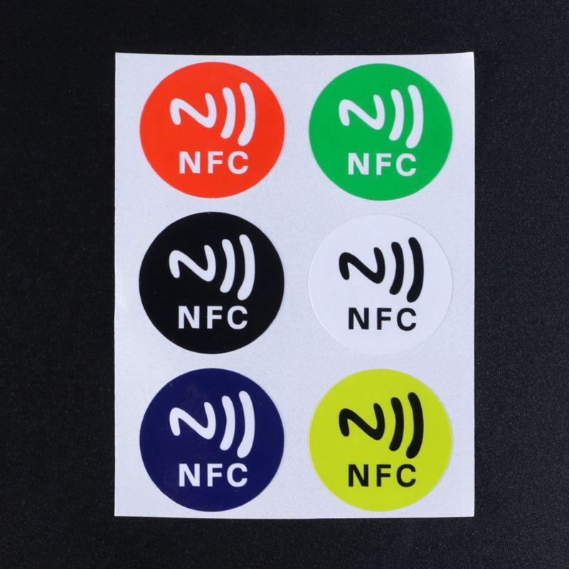 Водонепроницаемый ПЭТ Материал NFC наклейки умный клей Ntag213 метки для всех телефонов DXAC