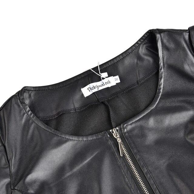 Zipper Short Leather  5