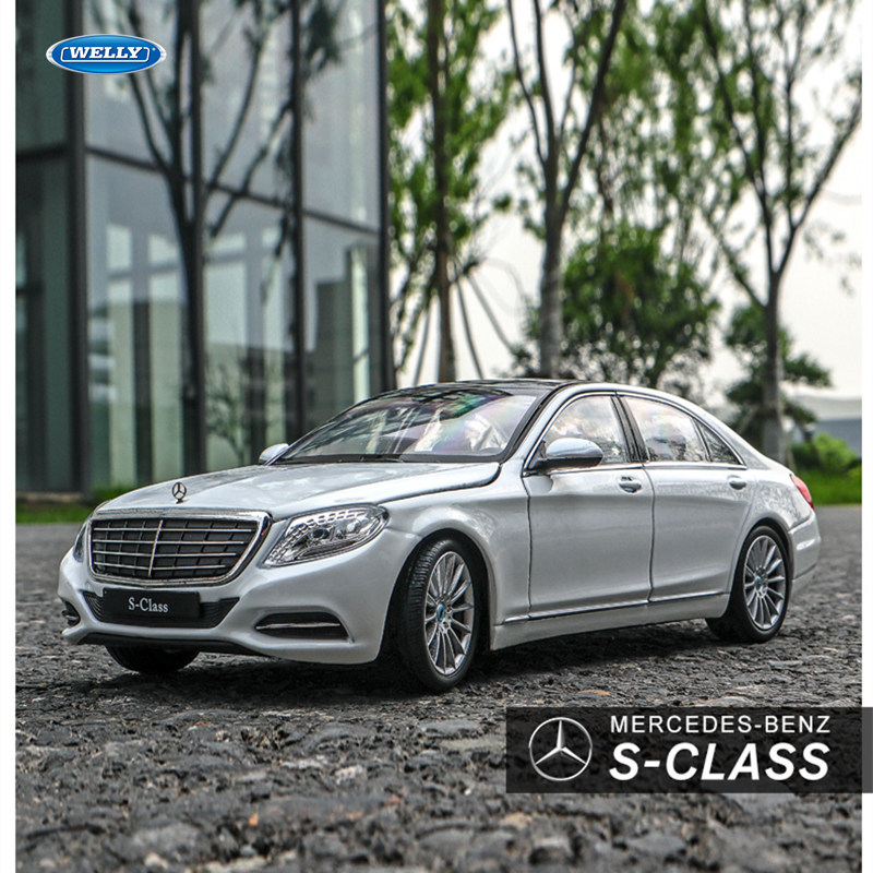 Welly 1:24 High Simulation Benz S-CLASS S500 Classical Diecast Metal Alloy Model Car Toys For Children Gift Car Collection Boy