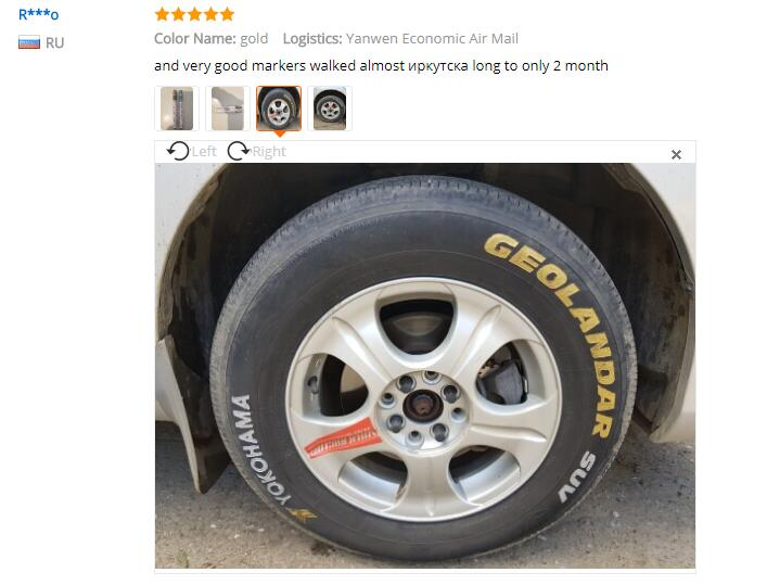 Image 4 - 1pc White Permanent Oil Based Paint Pen Car Bike Tyre Tire Metal Marker Waterproof Non Fading for Tire Paint Pen 11 COLORS-in Car Stickers from Automobiles & Motorcycles