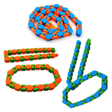 New Multicolor Wacky Tracks Antistress Chain Toy For Children Bike Chain Stress Relief Sensory Toy Aduls Autism Needs Kids Gifts