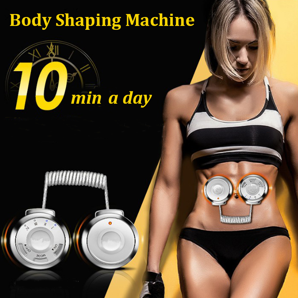 Sports Vibration Fitness Stimulator Muscle Trainer Arm Belly Back Exerciser Body Shaping Machine Fat Burning Massager Home Gym