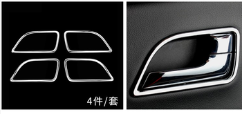 4PCS inner door handle Cover ABS Chrome trim car stying Car Accessories For KIA RIO K2 sedan hatchback 2011 2012 2013 image
