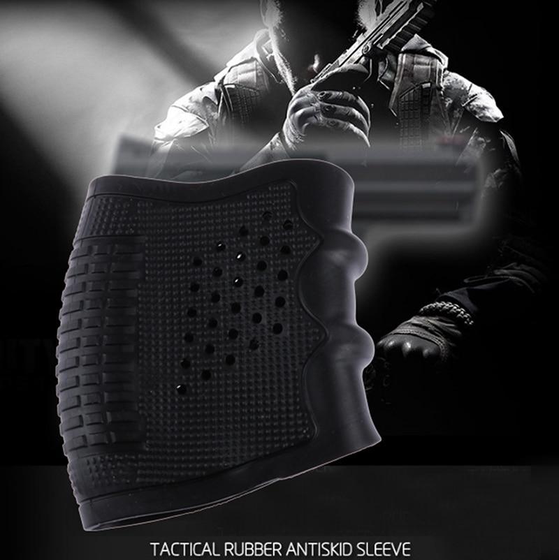Glock Holster Handgun Rubber Military Accessory Sleeve Anti Slip Airsoft Coldre Glock Shooting Hunting Black Gun Grip