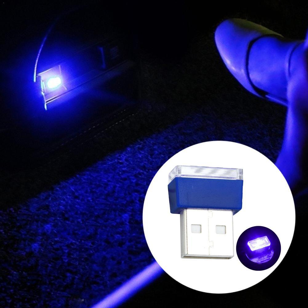 Mini USB LED 5 Color Wireless Lamp Car Atmosphere Light Colorful Accessories UK