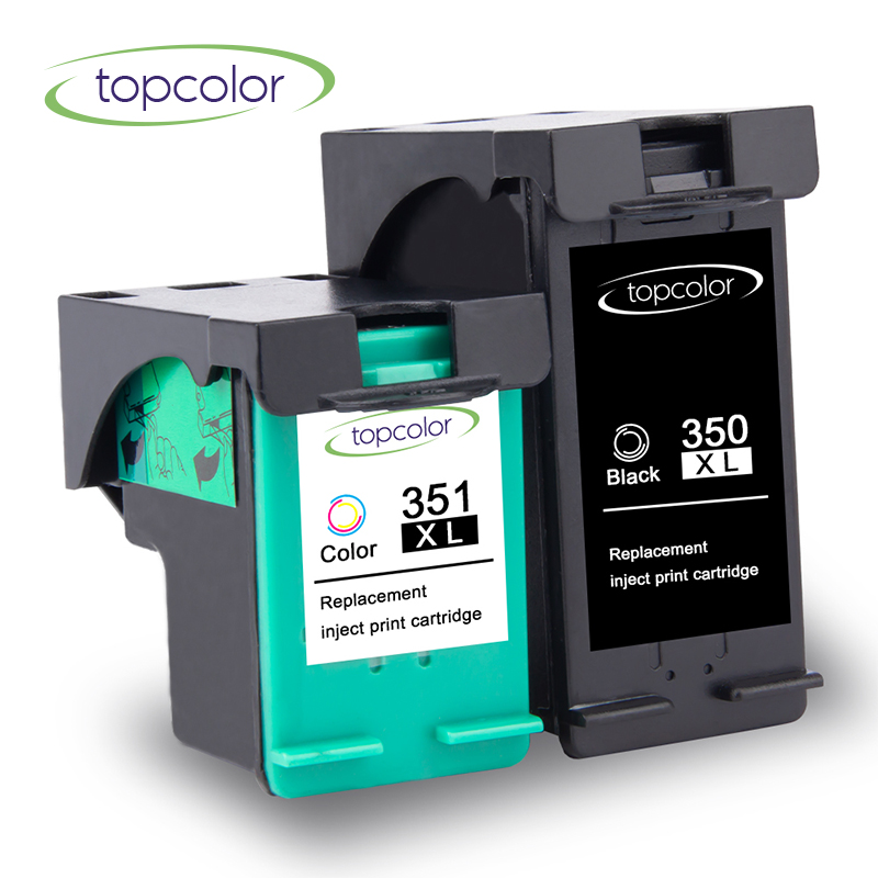 Topcolor Ink Cartridge 350XL 351XL Fit for <font><b>HP</b></font> 350 <font><b>HP</b></font> <font><b>351</b></font> hp350 hp351 CB336E CB338E for <font><b>hp</b></font> Printer D4260 D4280 D4360 J5725 J5730 image