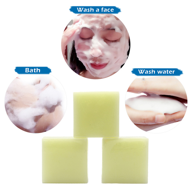 100g Sea Salt Soap Cleaner Removal Pimple Pores Acne Treatment Goat Milk Moisturizing Face Care Wash Basis For Soap TSLM2 3