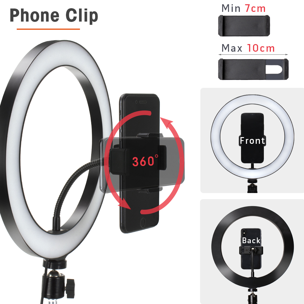 LED Ring Light Photography Lighting Selfie Lamp USB Dimmable With Tripod For Youtube Photo Studio Makeup LED Ring Light Photography Lighting Selfie Lamp USB Dimmable With Tripod For Youtube Photo Studio Makeup Video Live
