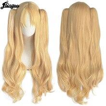 【Ebingoo】Irkalla Ereshkigal Wig Fate Grand Order Cosplay Wig Curly Light Blonde Hair Anime Fate Grand Order Cosplay Wigs Women