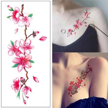 Wodoodporna tymczasowa naklejka tatuaż różne kwiaty Sexy tatuaże do ciała Arm sztuczny tatuaż tymczasowe rękawy tatuaże arkusze moda tanie i dobre opinie Jedna jednostka CN (pochodzenie) 190mmX90mm tattoo sticker Zmywalny tatuaż