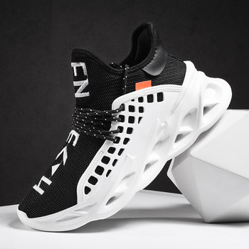 New Lightweight Running Shoes for Men Breathable Man Sneakers Outdoor Cushioning Athletic Sport Jogging Shoes Zapatillas Size46 2019 popular breathable men luxury brand trail running shoe plus size46 athletic sneakers for men jogging shoe sneakers for men