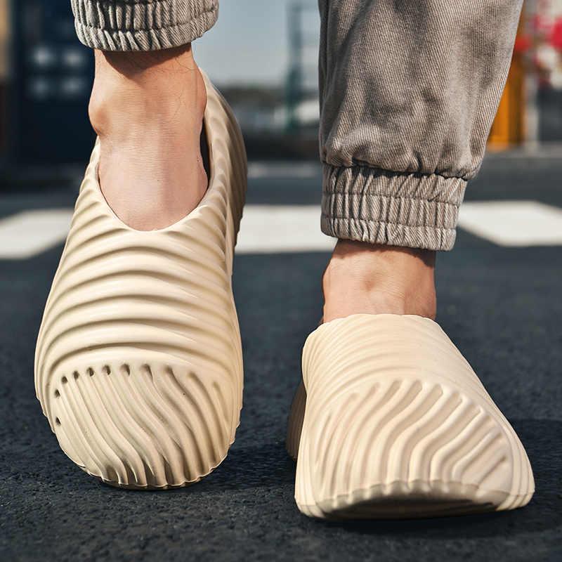Kanye Men Women Summer Beach white Shoes Foam Runner Anti Slipper Sandals Casual