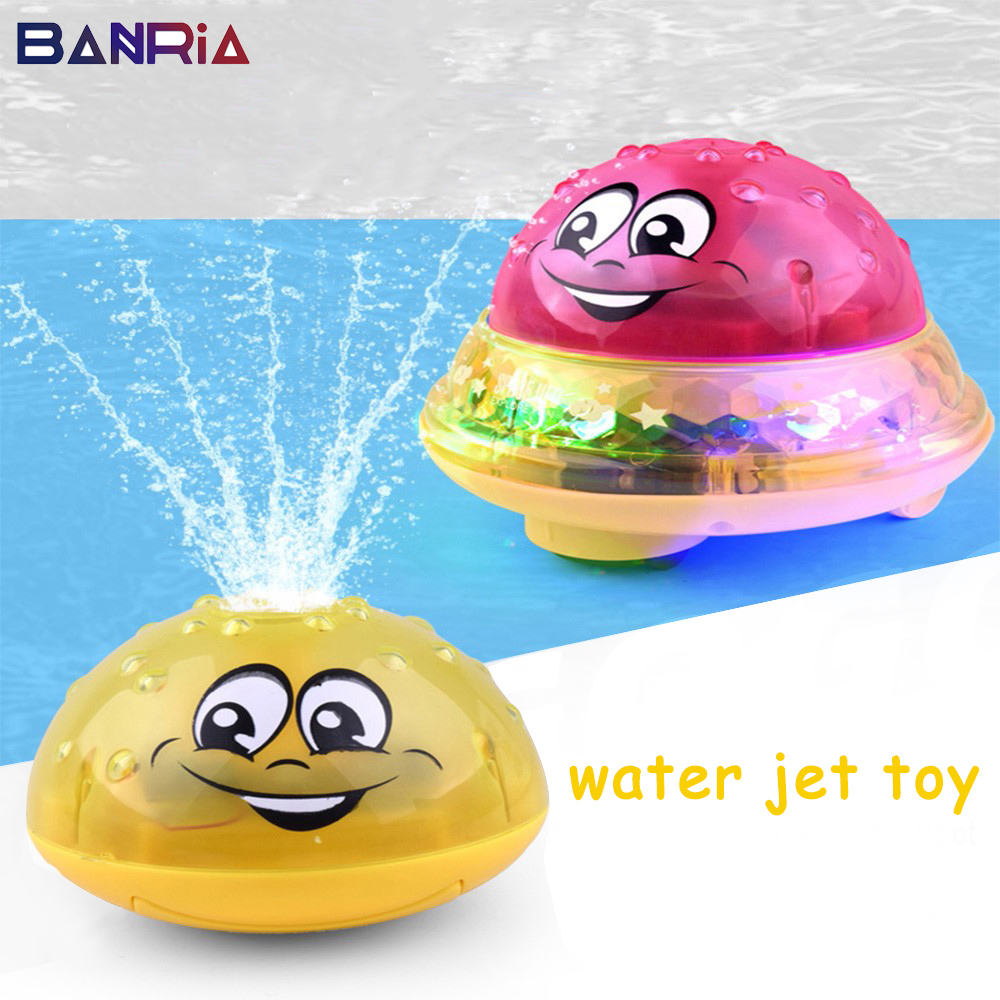 Bath Toys Toddler Swimming Plaything Water Spray Light Rotate With Shower Pool Children Toys For Kids Bathroom LED Light Toys