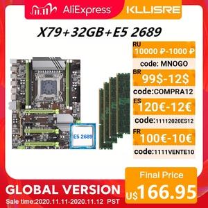 Image 1 - Kllisre X79 Moederbord Set Met Xeon E5 2689 4X8 Gb = 32 Gb 1600 Mhz DDR3 Ecc Reg geheugen Atx USB3.0 SATA3 Pci E Nvme M.2 Ssd