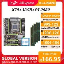 Kllisre X79 האם סט עם Xeon E5 2689 4x8GB = 32GB 1600MHz DDR3 ECC REG זיכרון ATX USB3.0 SATA3 PCI E NVME M.2 SSD