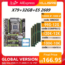 Kllisre X79 เมนบอร์ดชุด Xeon E5 2689 4x8GB = 32GB 1600MHz DDR3 ECC REG หน่วยความจำ ATX USB3.0 SATA3 PCI E NVME M.2 SSD