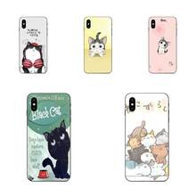 TPU Cover Cases For Xiaomi Redmi Mi Note 2 3S 8 9 Lite SE Pro 3d Fortune Cat Cute Cat Animal(China)