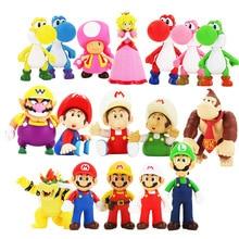12cm Super Mario Figures Toys Super Mario Bros Bowser Luigi Koopa Yoshi Mario Maker Odyssey PVC Action Figure Model Dolls Toy prettyangel genuine bandai tamashii nations s h figuarts super mario brothers mario action figure
