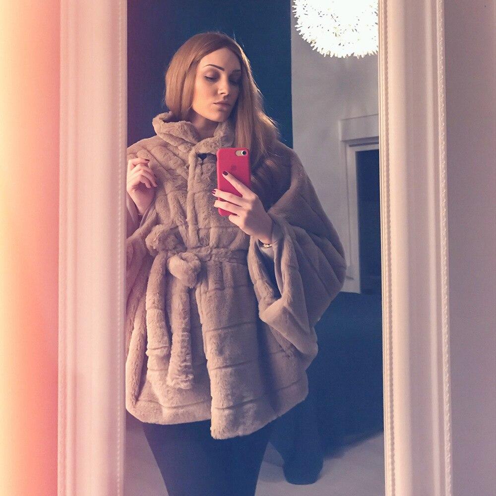 2019 Autumn Winter Bow Faux Fox Fur Fashion With Fox Fur Collar Jacket Women Thick Warm Fur Single Button Vestidos Casual Coats