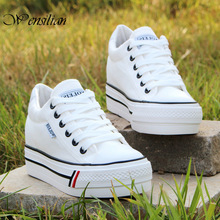 Platform Sneakers Woman Vulcanize Shoes Wedge Casual