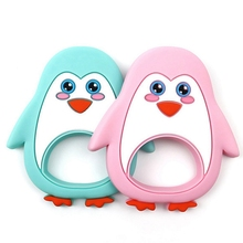 Silicone Teether Cartoon Penguin Teething Toddler Toys For Baby Infant Toy Silic